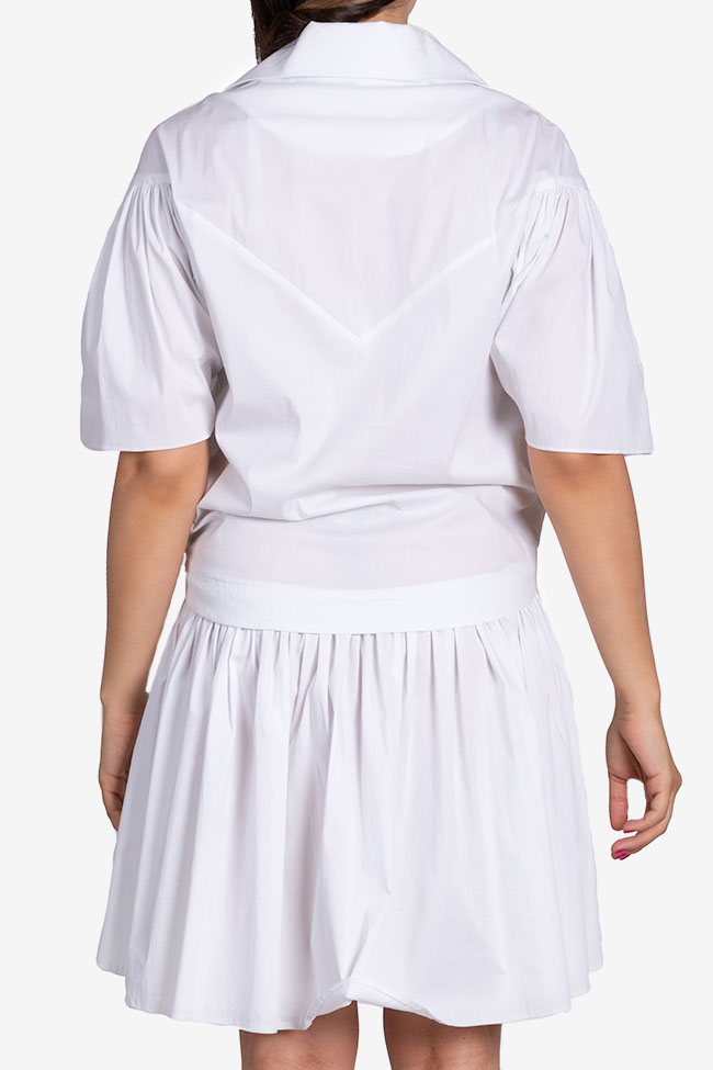Robe en popeline de coton avec plis Larisa Dragna image 2
