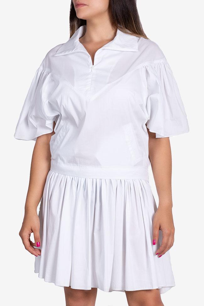 Robe en popeline de coton avec plis Larisa Dragna image 0