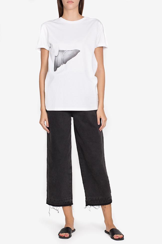 Printed cotton T-shirt Larisa Dragna image 1