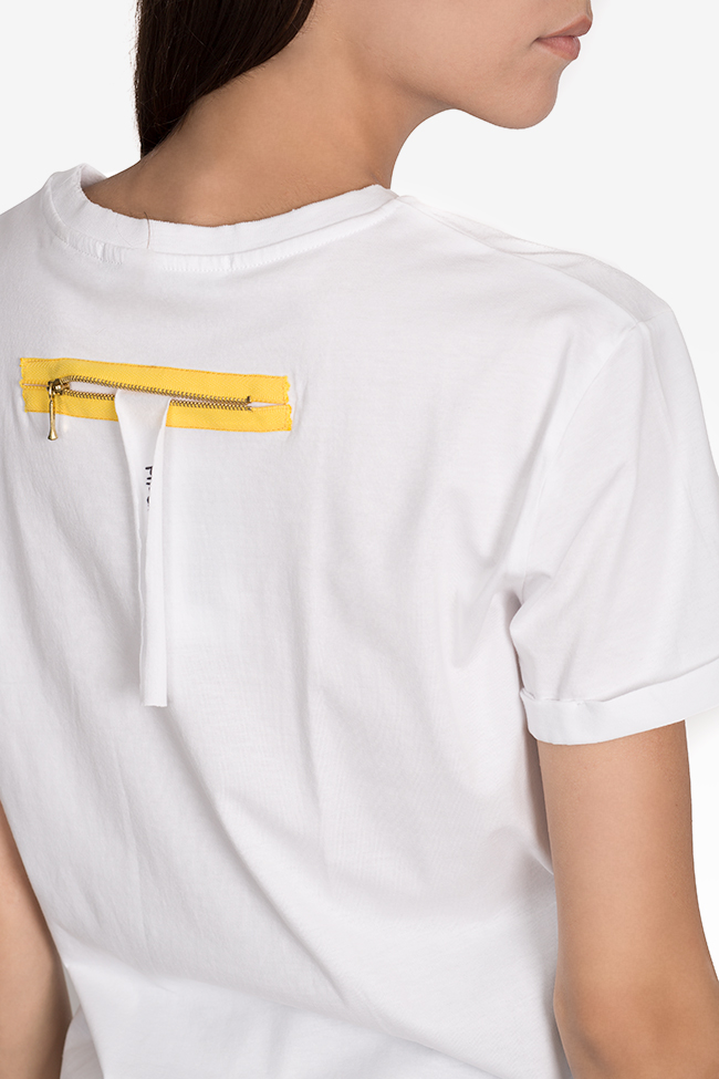 Printed cotton T-shirt Larisa Dragna image 3