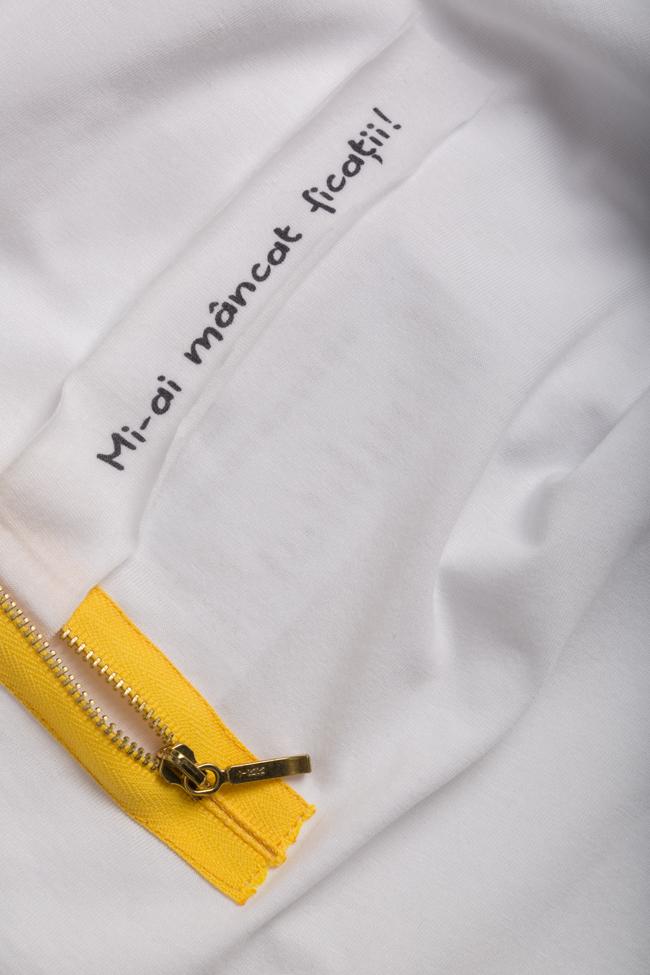 Printed cotton T-shirt Larisa Dragna image 4