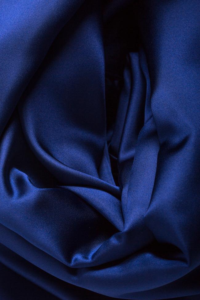 Rochie asimetrica din amestec de matase satinata Dalba DALB by Mihaela Dulgheru imagine 4