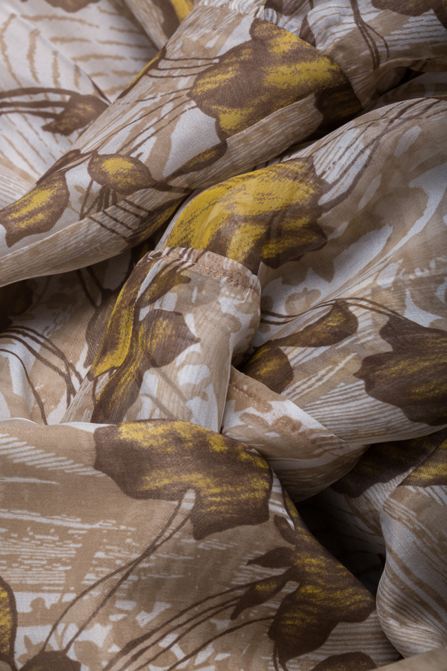 Robe asymétrique en voile de soie DALB by Mihaela Dulgheru image 4