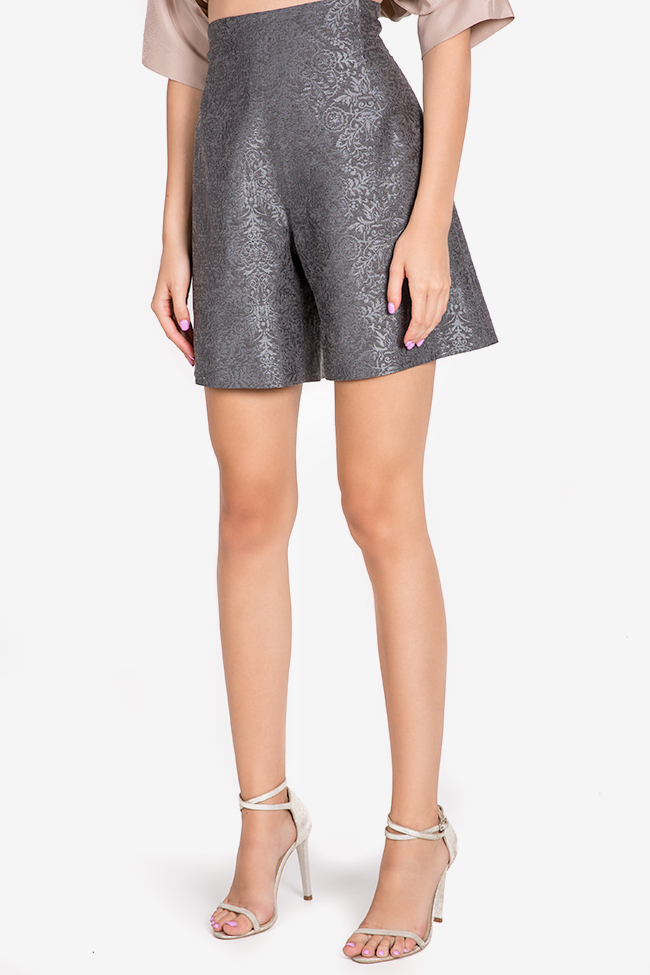 Cotton silk-blend brocade shorts Claudia Castrase image 0