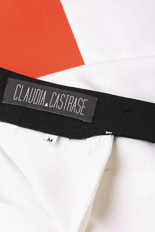 Jupe portefeuille en étoffe Malevich Claudia Castrase image 4