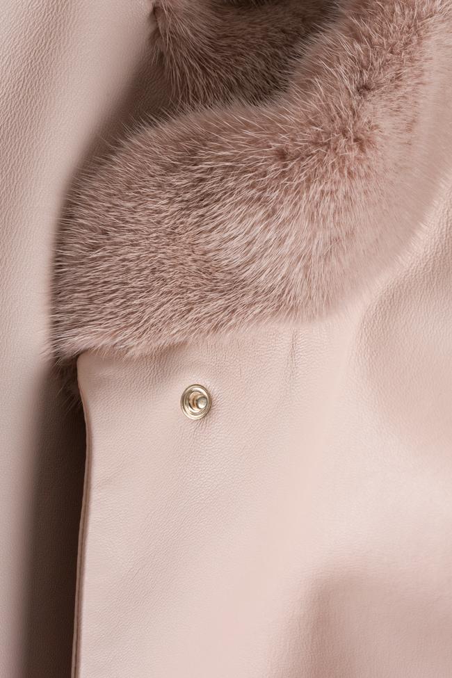 Mink-fur leather coat Elora Ascott image 4