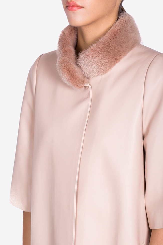 Mink-fur leather coat Elora Ascott image 3