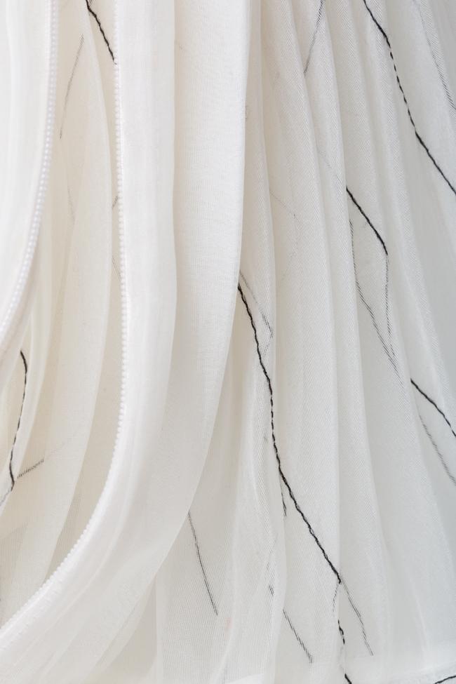 Rochie plisata din organza de matase cu cusaturi grafice LUWA imagine 4