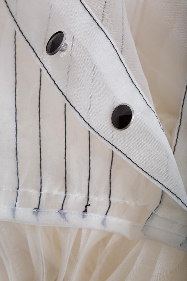 Rochie plisata din organza de matase cu broderie cusuta manual LUWA imagine 4