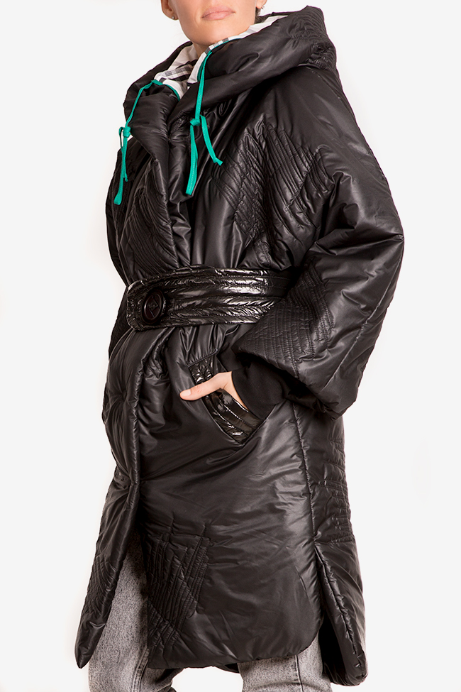 Down quilted glossed-shell coat Edita Lupea image 0