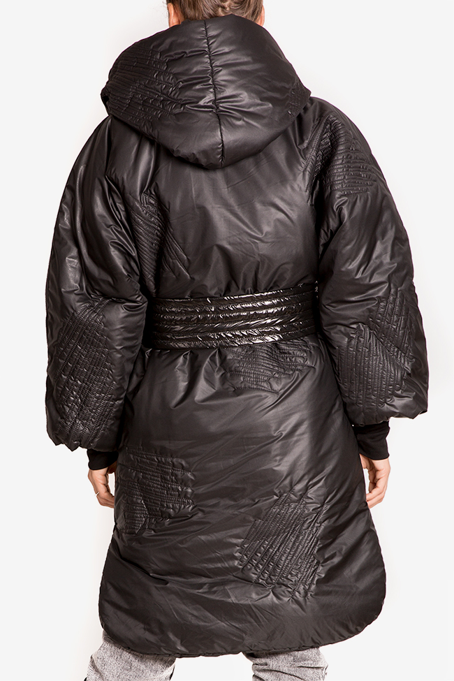 Down quilted glossed-shell coat Edita Lupea image 2