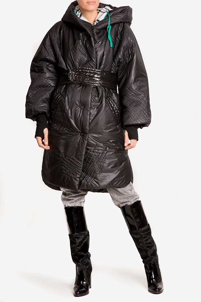 Down quilted glossed-shell coat Edita Lupea image 1