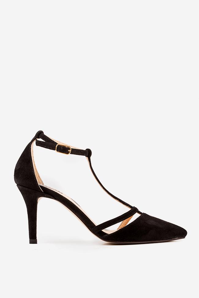 Pantofi din piele intoarsa Classy Lady Hannami imagine 0