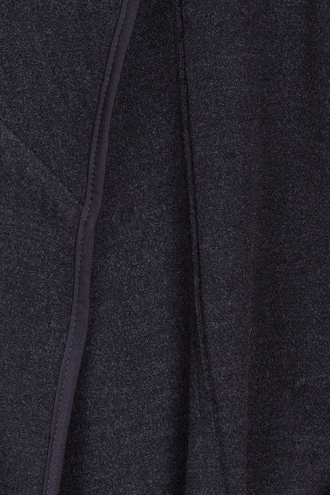Cape-effect wool-blend coat Bluzat image 4