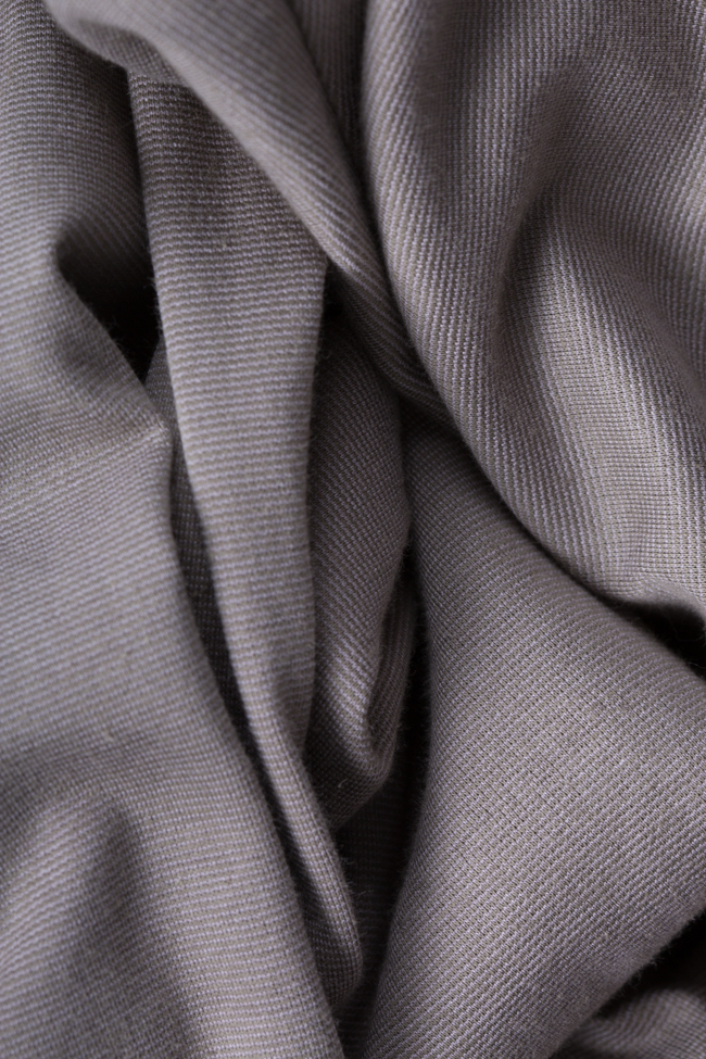 Bluza supradimensionata asimetrica din amestec de bumbac Bluzat imagine 4