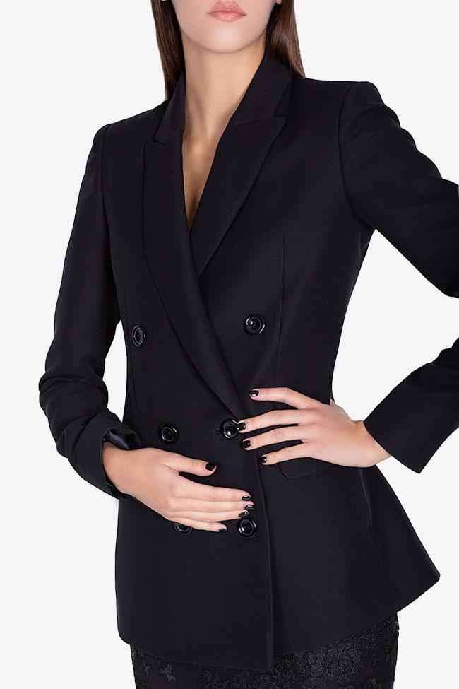 Veste en crêpe de laine Ivana Arllabel Golden Brand image 3