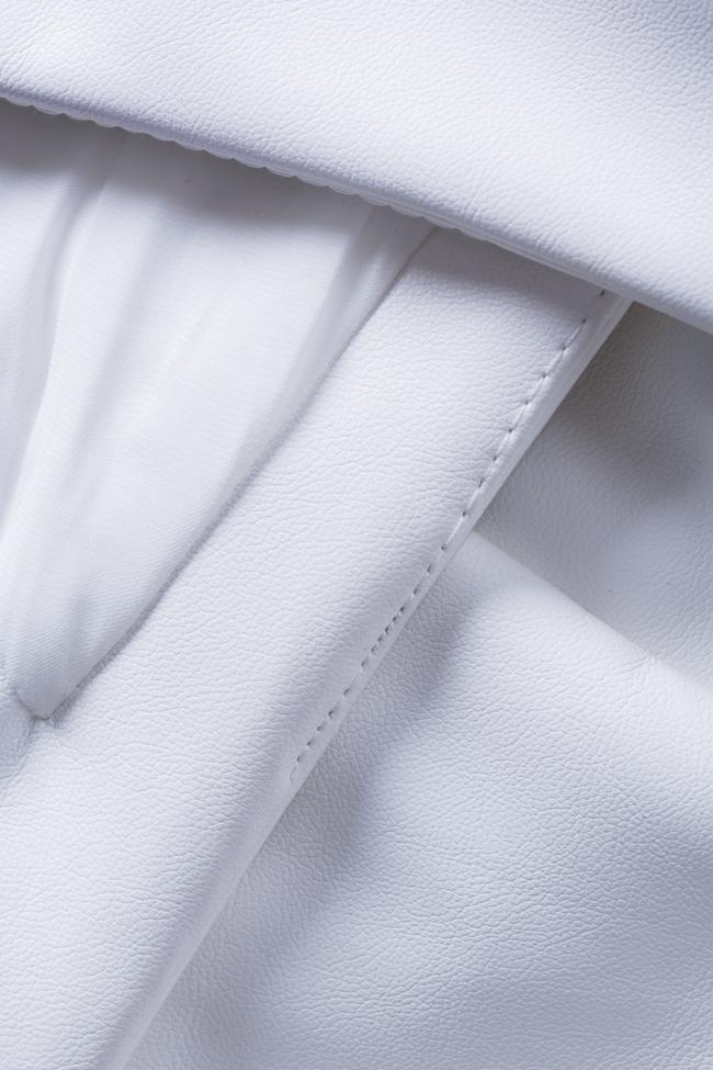 Robe mini en cuir écologique Rocky Arllabel Golden Brand image 4