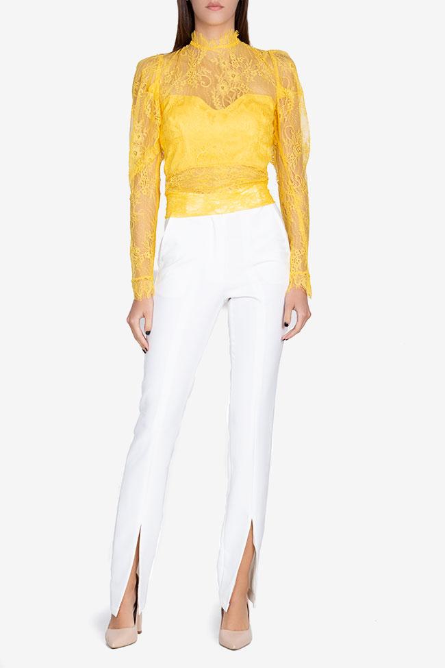 Bluza din dantela cu spatele gol Victoria Arllabel Golden Brand imagine 1