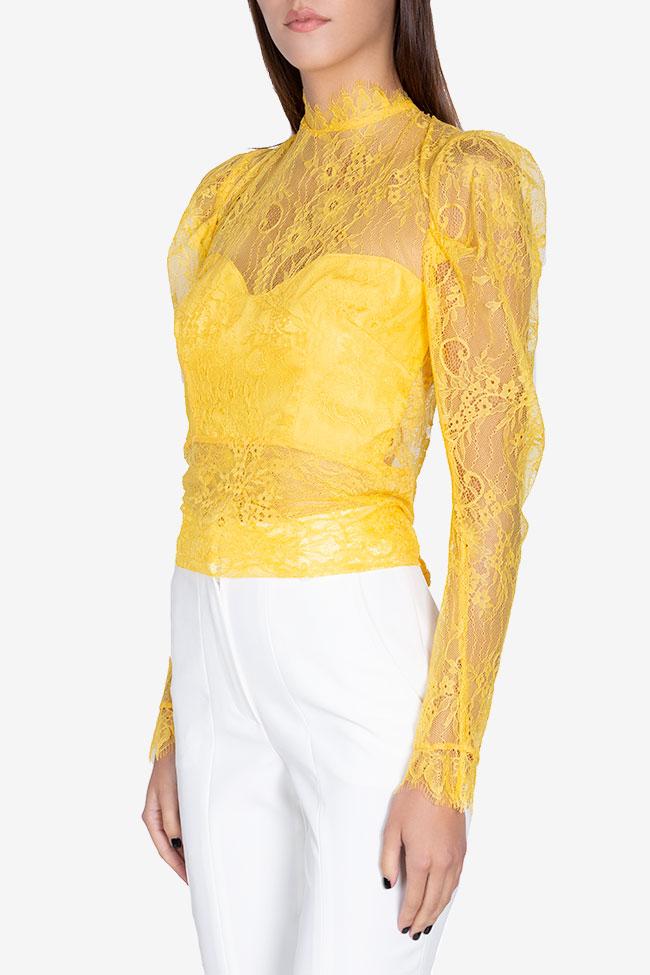 Bluza din dantela cu spatele gol Victoria Arllabel Golden Brand imagine 0