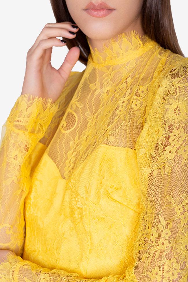 Bluza din dantela cu spatele gol Victoria Arllabel Golden Brand imagine 3