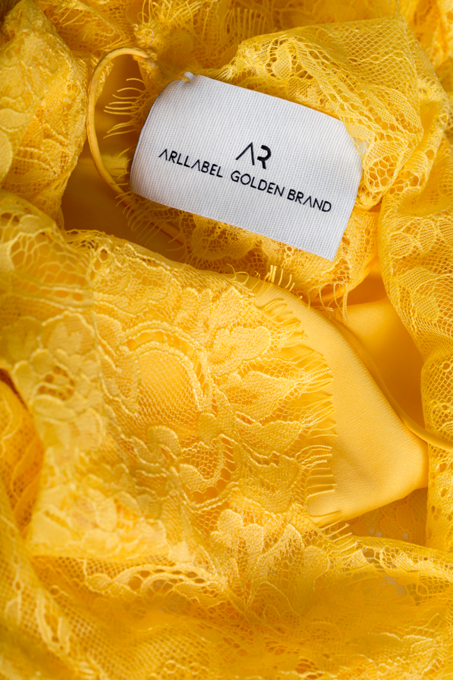 Bluza din dantela cu spatele gol Victoria Arllabel Golden Brand imagine 4