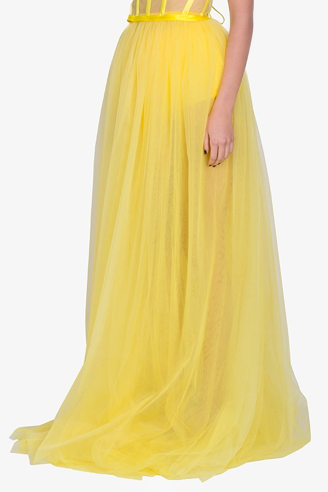 Tulle maxi skirt Arllabel Golden Brand image 0
