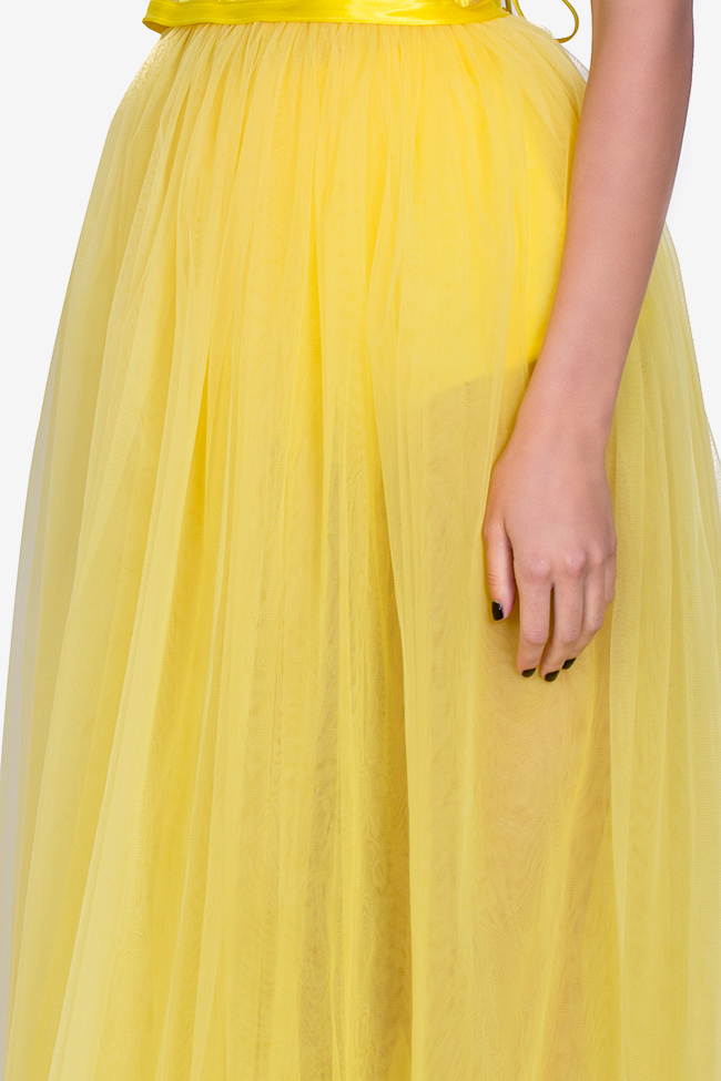 Tulle maxi skirt Arllabel Golden Brand image 3
