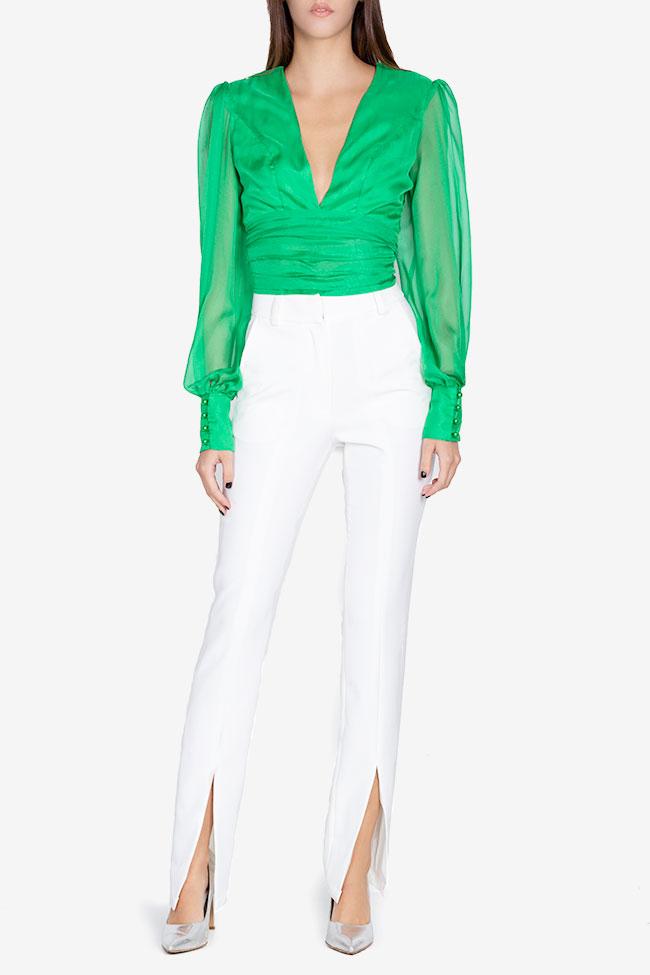 Bluza din voal din amestec de matase Anka Arllabel Golden Brand imagine 1