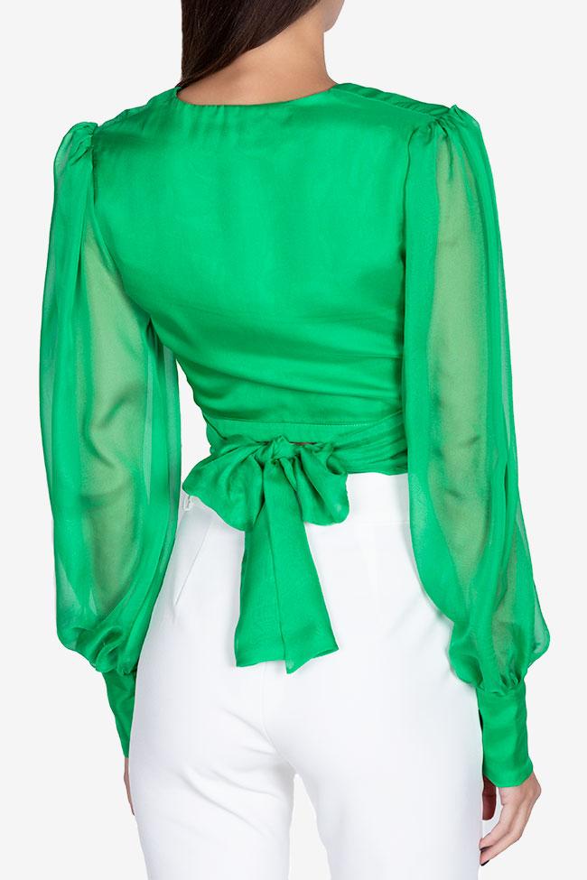 Bluza din voal din amestec de matase Anka Arllabel Golden Brand imagine 2