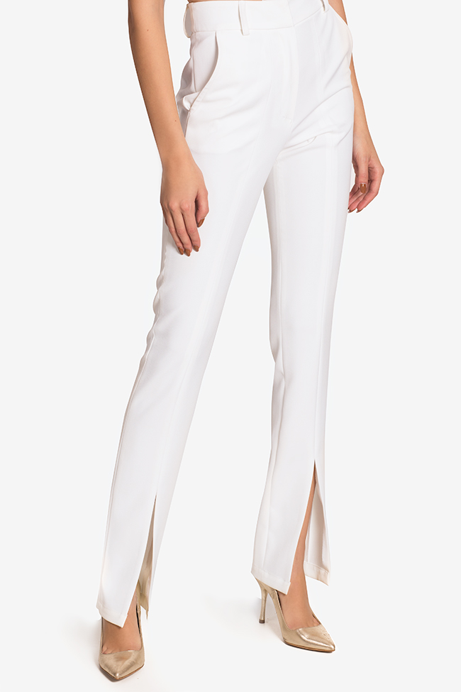 Silk-blend pants Arllabel Golden Brand image 0
