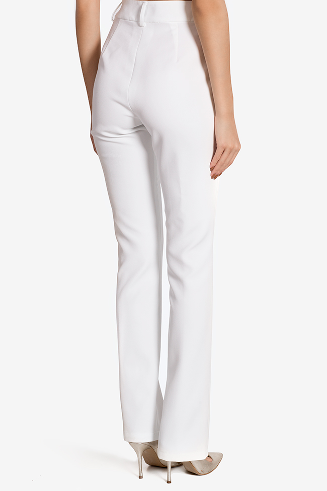 Silk-blend pants Arllabel Golden Brand image 2