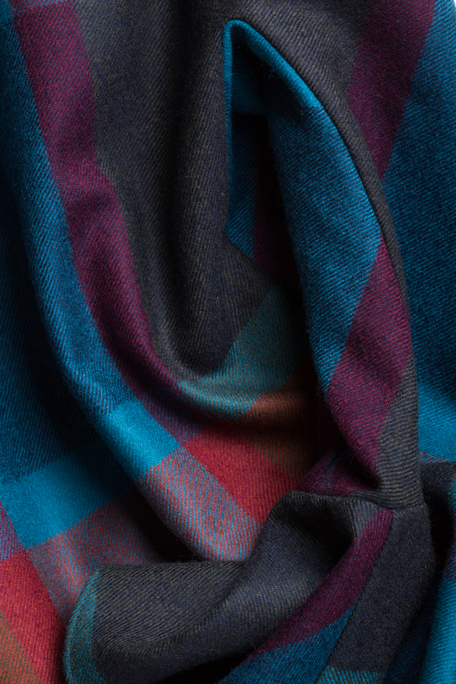 Rochie mini din stofa din amestec de lana Louisa Couture de Marie imagine 4