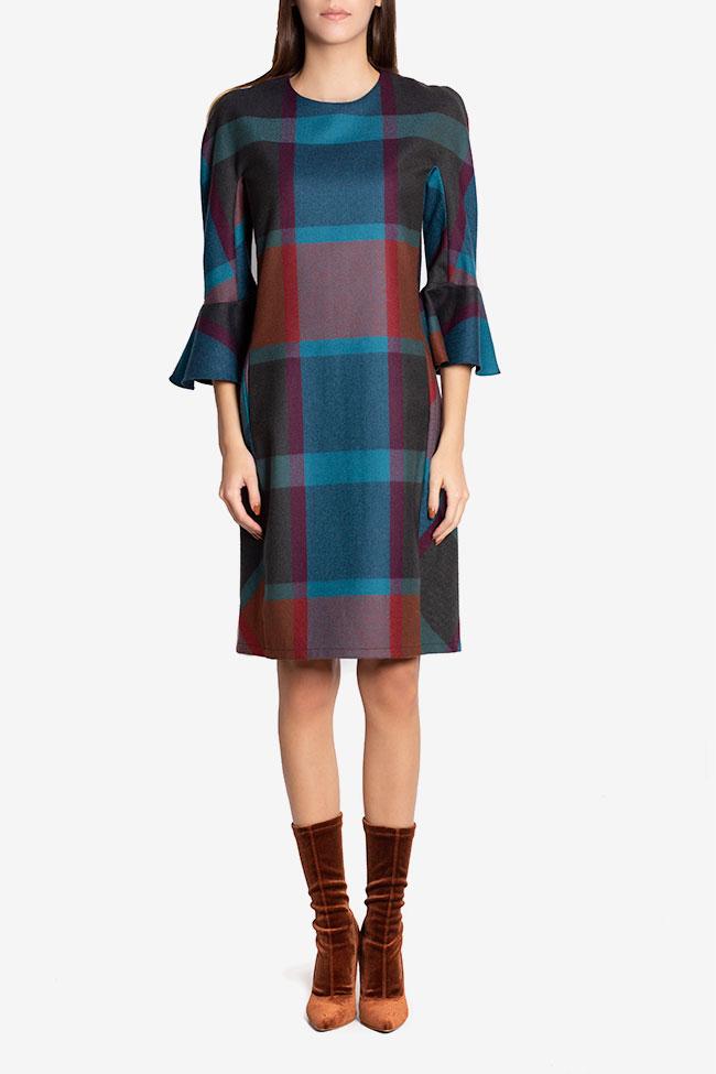Rochie mini din stofa din amestec de lana Louisa Couture de Marie imagine 1