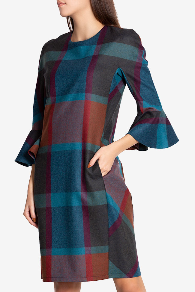 Louisa checked wool-blend dress Couture de Marie image 0