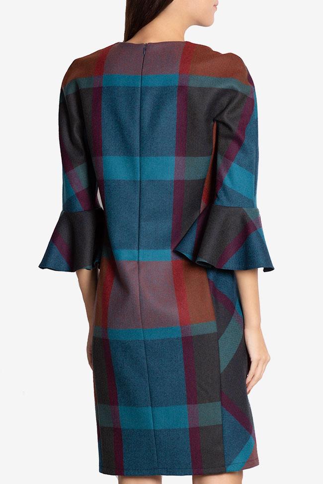 Rochie mini din stofa din amestec de lana Louisa Couture de Marie imagine 2