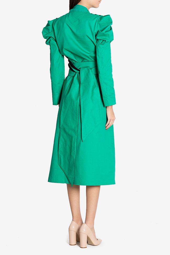 Robe midi en coton avec écharpe en voile Nicoleta Obis image 2