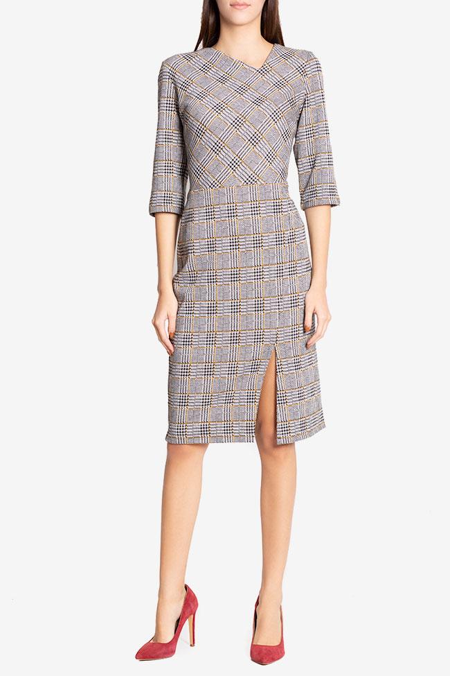 Robe mini en mélange de coton à carreaux Margaret Couture de Marie image 1