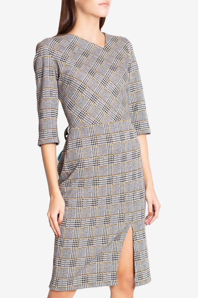 Robe mini en mélange de coton à carreaux Margaret Couture de Marie image 0