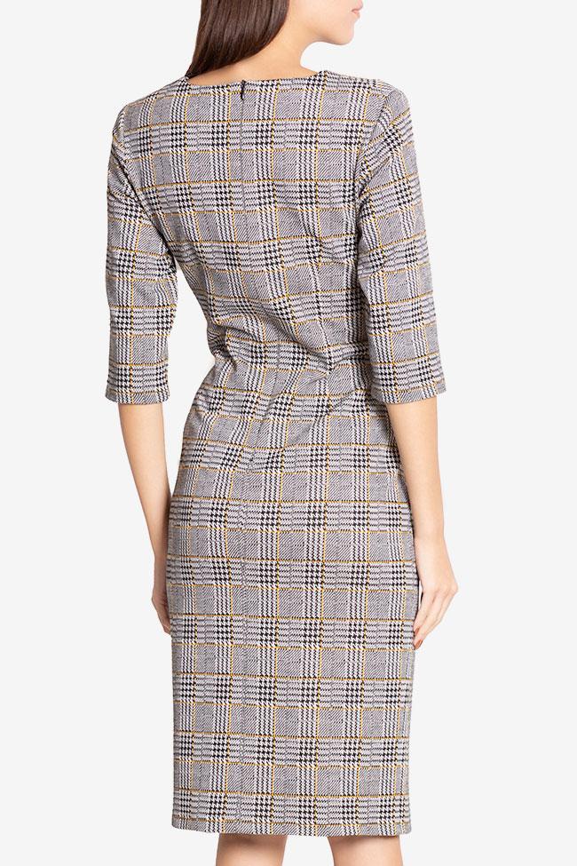 Robe mini en mélange de coton à carreaux Margaret Couture de Marie image 2