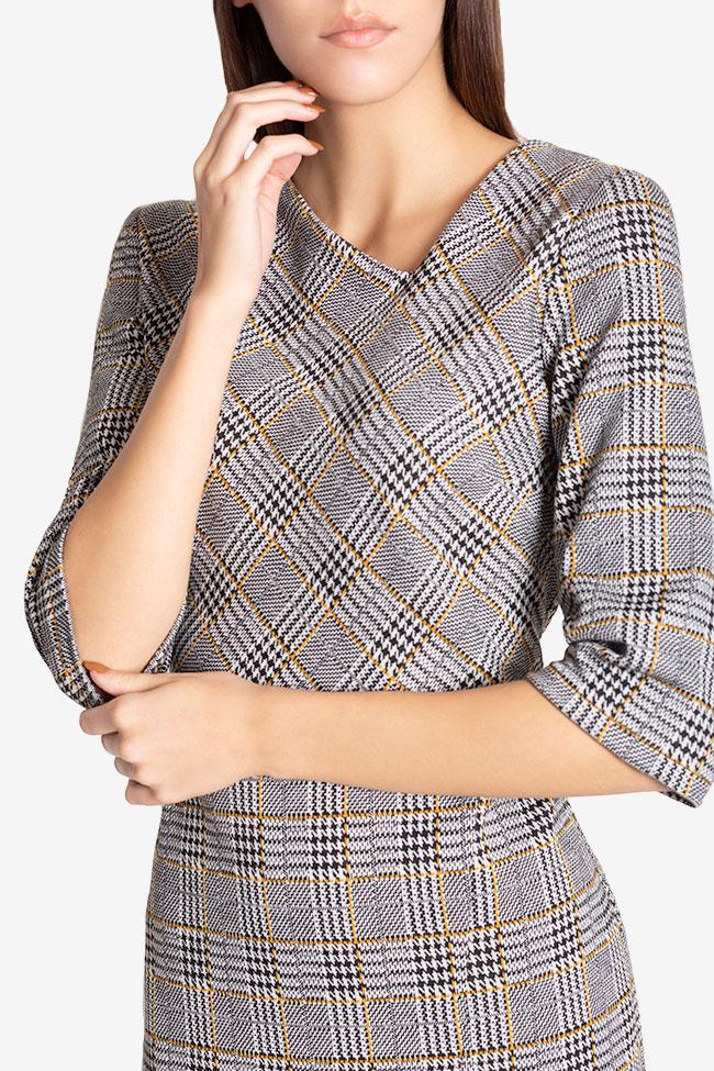 Robe mini en mélange de coton à carreaux Margaret Couture de Marie image 3