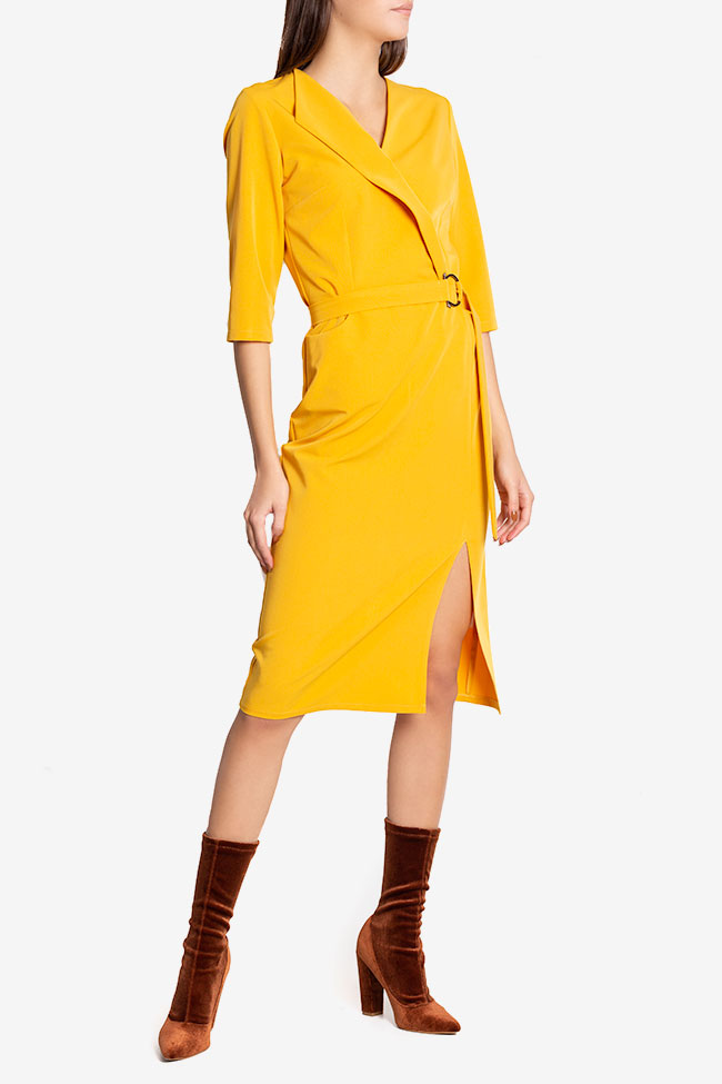 Amira wrap-effect belted crepe midi dress Couture de Marie image 0