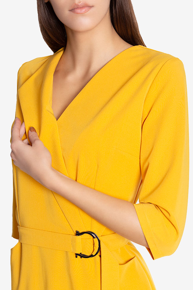 Amira wrap-effect belted crepe midi dress Couture de Marie image 3