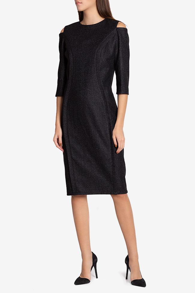 Rochie din amestec de lana cu umerii decupati Chantelle Couture de Marie imagine 0