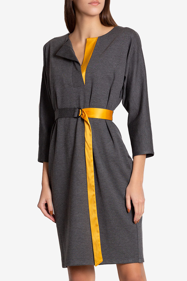 Louise belted wrap-effect cotton midi dress Couture de Marie image 0