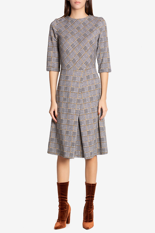 Kelly checked cotton midi dress Couture de Marie image 1