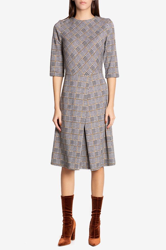 Rochie cu pliu din bumbac in carouri Kelly Couture de Marie imagine 1