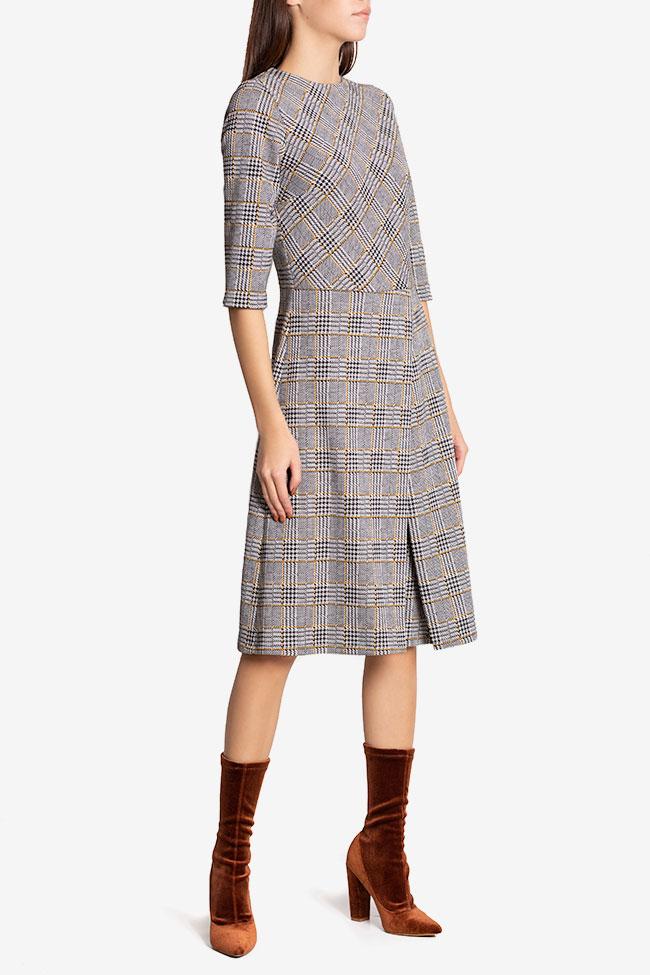 Rochie cu pliu din bumbac in carouri Kelly Couture de Marie imagine 0