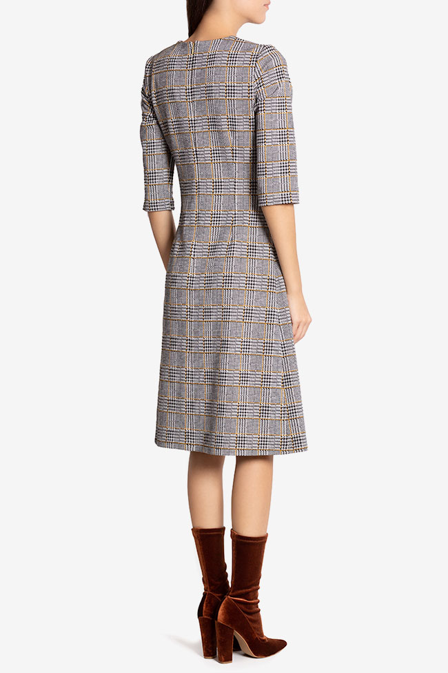 Kelly checked cotton midi dress Couture de Marie image 2