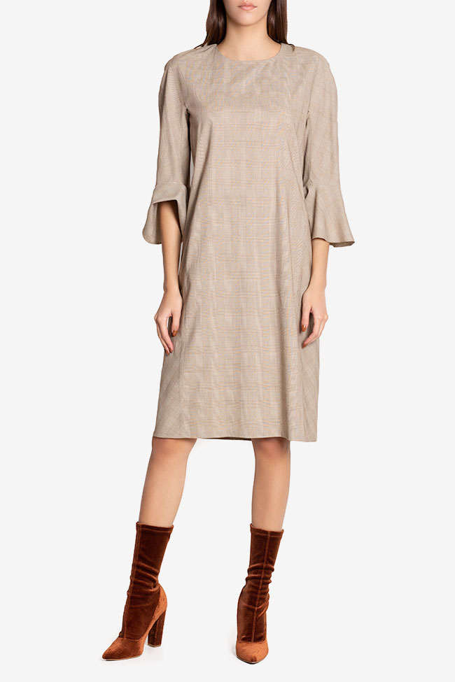 Emilie checked wool-blend midi dress Couture de Marie image 1