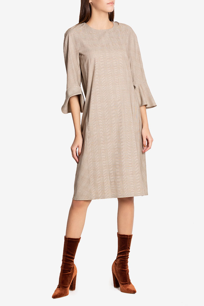 Emilie checked wool-blend midi dress Couture de Marie image 0